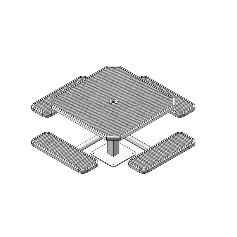 "46"" Single Pedestal Octagon Table, Surface Mount (338)"
