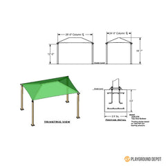 24'x26' Rectangle Shade