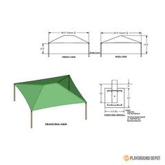 28'x28' Square Shade