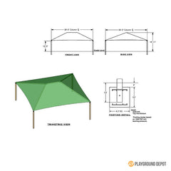 36'x36' Square Shade