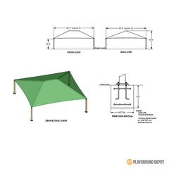 38'x38' Square Shade