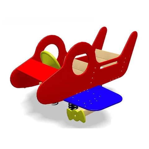 Village Airplane -Double Spring Rider | Commercial Playground Equipment