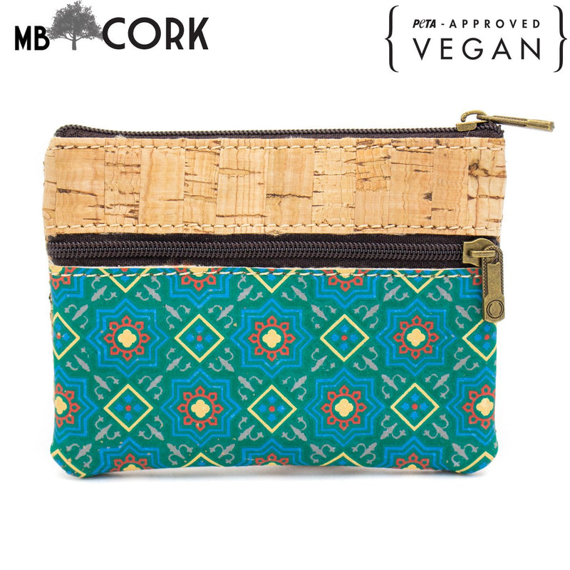 Cork Purse vegan eco women coin purse wallet bag  BAG49-01