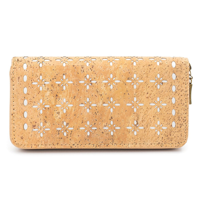 Natural cork Laser cute style women zipper card vegan wallet BAG-328-A