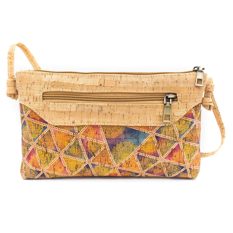 Natural cork women Crossbody cork bag with zipper  BAG-604