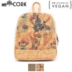 Natural cork partten fabric girls backpack BAG-626-Backpack