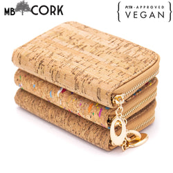 Flash Sales natural cork card wallet 9x13.5cm  -025