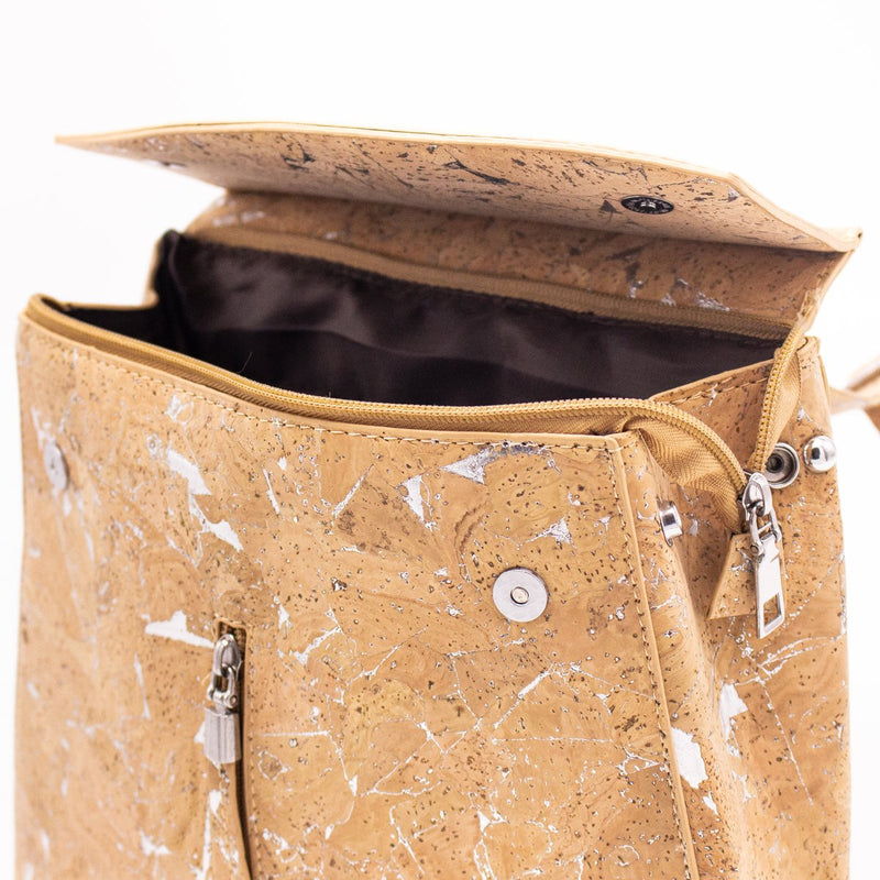 Natural cork with silver girls backpack BAG-322