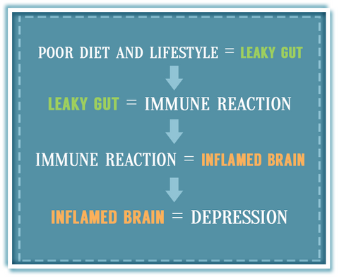 Leaky Gut Leads To Depression Chart