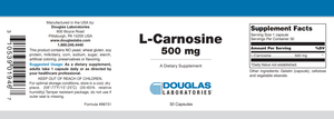 L-Carnosine - 30 Capsules Default Category Douglas Labs