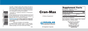 Cran-Max™ - 60 Capsules Default Category Douglas Labs