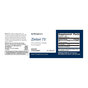 Zinlori 75 - 60 Tablets