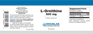 L-Ornithine - 60 Capsules Default Category Douglas Labs