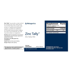 Zinc Tally - 4 fl oz Default Category Metagenics