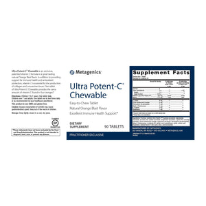 Ultra Potent-C Chewable - 90 Tablets Default Category Metagenics