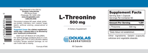 L-Threonine - 60 Capsules Default Category Douglas Labs