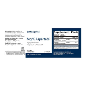 Mg/K Aspartate - 60 Tablets Default Category Metagenics