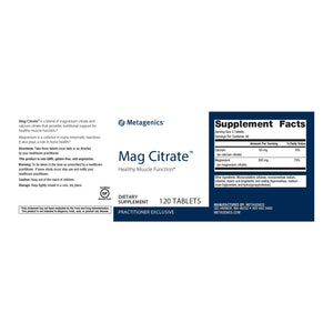 Mag Citrate - 120 Tablets Default Category Metagenics