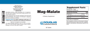 Mag-Malate - 90 Tablets Default Category Douglas Labs