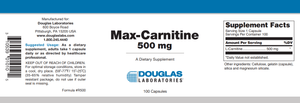Max-Carnitine Default Category Douglas Labs