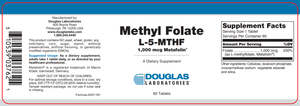 Methyl Folate - 60 Tablets