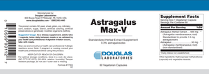 Astragalus Max-V - 60 Capsules Default Category Douglas Labs