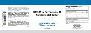 MSM + Vitamin C - 100 Tablets Default Category Douglas Labs