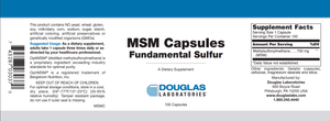 MSM Capsules - 100 Capsules Default Category Douglas Labs