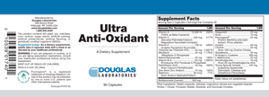 Ultra Anti-Oxidant - 90 Capsules Default Category Douglas Labs