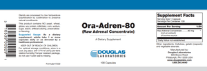 Ora-Adren 80 - 100 Capsules Default Category Douglas Labs