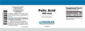 Folic Acid - 90 Tablets Default Category Douglas Labs