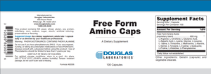 Free Form Amino Caps - 100 Capsules Default Category Douglas Labs