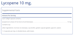 Lycopene 10 mg. - 100 softgels Default Category Pure Encapsulations