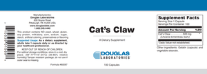 Cat's Claw - 100 Capsules Default Category Douglas Labs