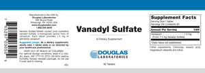 Vanadyl Sulfate - 90 Tablets Default Category Douglas Labs