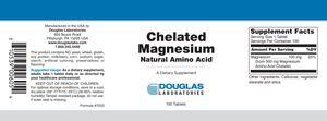 Chelated Magnesium - 100 Tablets Default Category Douglas Labs