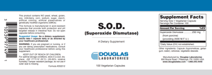 S.O.D. (Superoxide Dismutase) - 100 Capsules Default Category Douglas Labs