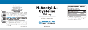 N-Acetyl-L-Cysteine 750 mg. - 90 Capsules Default Category Douglas Labs