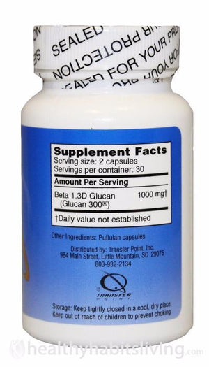 Beta 1, 3-D Glucan - 500mg Default Category Transfer Point