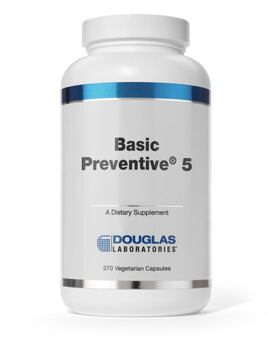 Basic Preventive® 5 (Vegetarian Capsules) - Iron Free - 180 Tablets