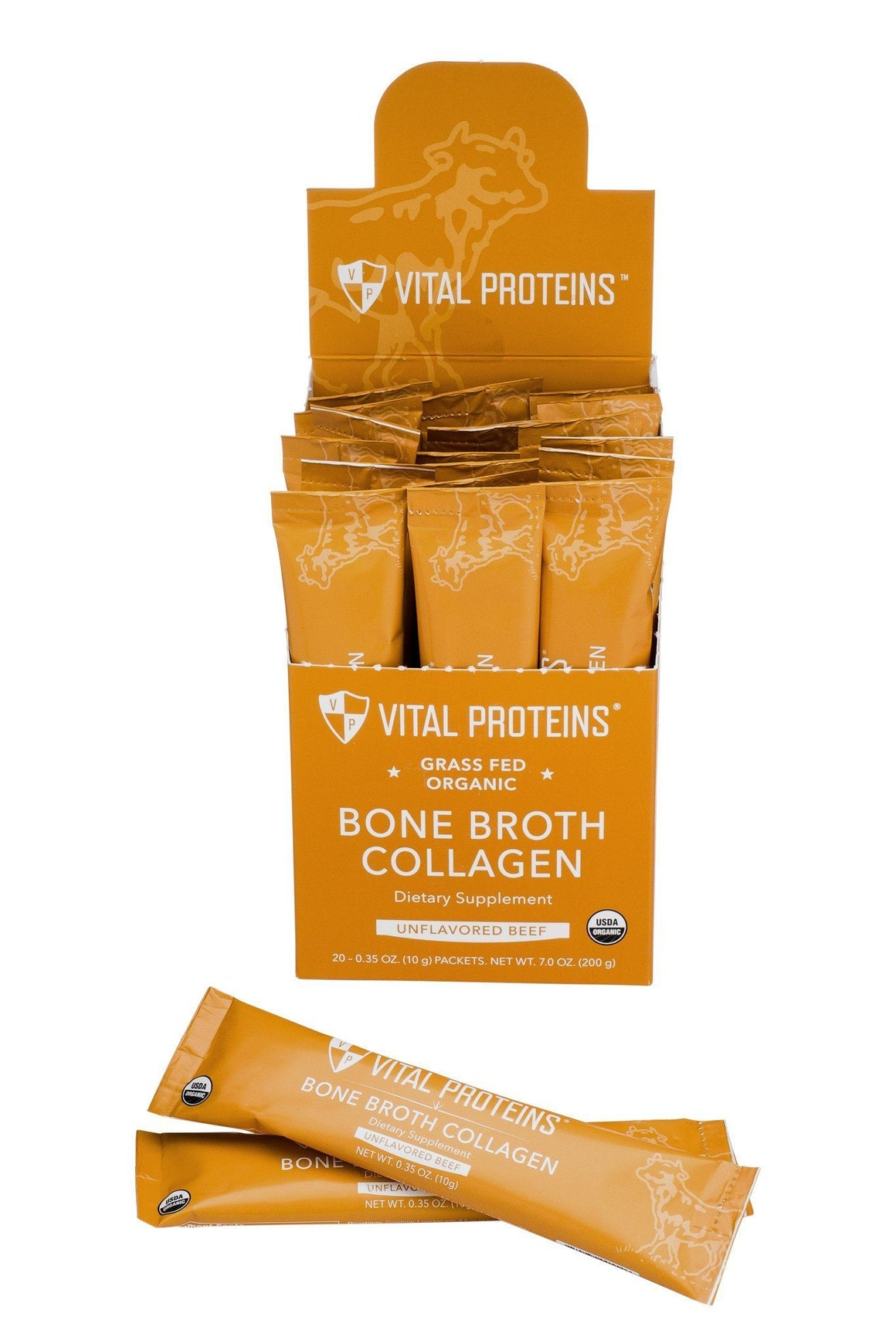 Organic, Grass-Fed Beef Bone Broth Collagen - 20 Stick Pack
