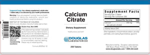 Calcium Citrate (250 mg.) - 250 Tablets Default Category Douglas Labs