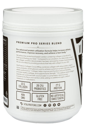 Pasture-Raised, Grass-Fed Dark Chocolate Collagen Whey - 20.2 oz Default Category Vital Proteins