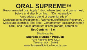 Oral Supreme - 15ml Default Category Supreme Nutrition