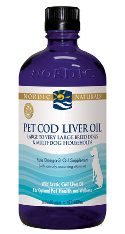 Pet Cod Liver Oil for Large to Very Large Breed Dogs & Multi-Dog Households