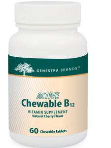 ACTIVE Chewable B12 - 60 Tablets Default Category Genestra