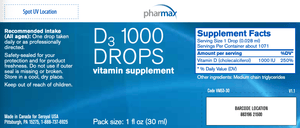 D3 1000 Drops - 1 fl oz Default Category Pharmax
