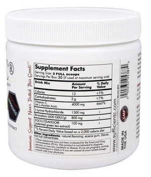Sufficient-C® High Dose Lemon Peach Immune-Ade Drink Mix Default Category Sufficient-C