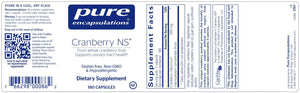 Cranberry NS® Default Category Pure Encapsulations 180 Capsules