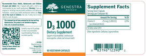 D3 1000 - 90 Capsules Default Category Genestra